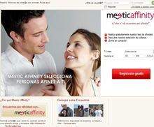 La página inicial de Meetic Affinity -