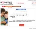 La página inicial de amoureux.com