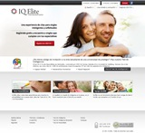 La página inicial de IQ Elite -